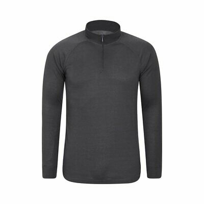 Mountain Warehouse Mens Long Sleeved Zip Neck Top Half Zip with IsoTherm