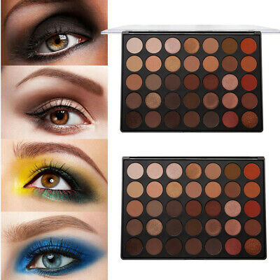 Matte Shimmer Earth Warm Color Eyeshadow Palette Makeup Eye Shadow 35 Colors