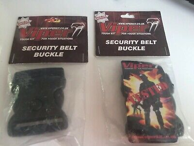 Viper Tactical Security Quick Release Belt Buckles Black Heavy Duty Police X2