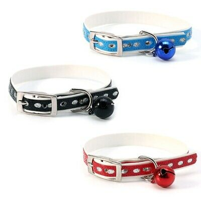 Cat Collar with Bell Pet Puppy Kitten Reflective Collar Cat Dog Cute Collars