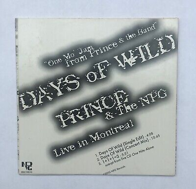 """Prince & The NPG """"Days of Wild"""" Live In Montreal - Rare Official CD Single"""