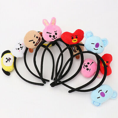 Kpop BTS Bangtan Boys BT21 Headband Hair Band Hairband Chimmy Tata Shooky Vann