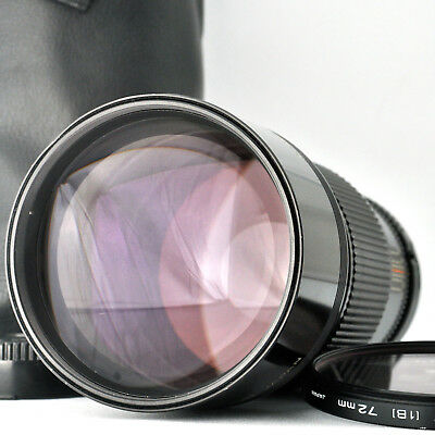 Ex+++!! Canon New FD 200mm f2.8 nFD Telephoto MF Lens w/ Filter, Case from JAPAN