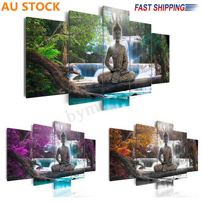 Landscape Buddha Zen Painting Canvas Print Modern Picture Home Wall Decor Xmas !