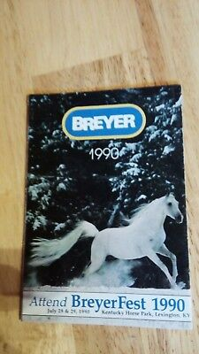 1990 Breyer Consumer catalogue (leaflet from box)