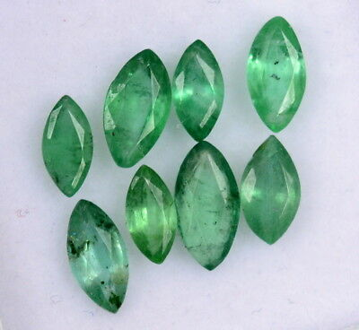 Natural Emerald Marquise Cut Mix mm 2.00 Cts Lot 09 Pcs Untreated Loose Gemstone