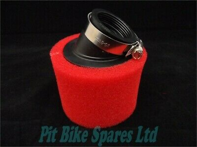 42-44mm Red Angled Twin Foam Pit Bike Air Filter Molkt, YX140