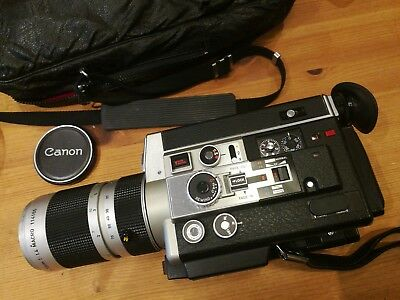 Canon Auto Zoom 1014 ELECTRONIC SUPER 8 Camera WORKING