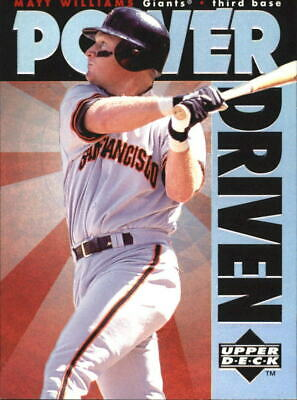1996 Upper Deck Power Driven #PD20 Matt Williams - NM-MT
