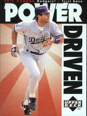 1996 Upper Deck Power Driven #PD8 Eric Karros - NM-MT