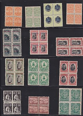 Kappysstamps Id7709 25 Early 1900'S  Worldwide Mint  Bk/4 Block  Lot Collection