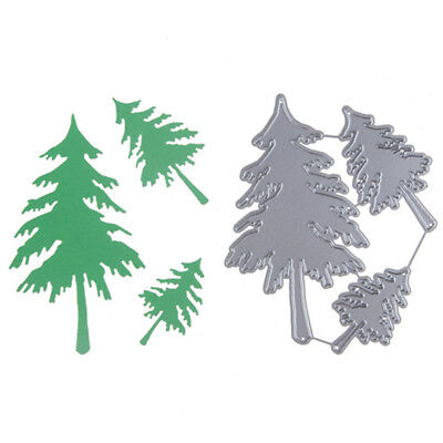 3XChristmas Trees Metal Cutting Dies For DIY Scrapbooking Albums Paper Card GN