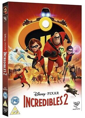 Incredibles 2 DVD Brand New 2018 Region 2