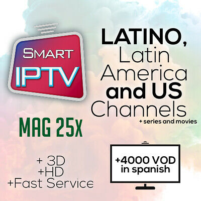 Media Streamers IPTV Latino 1 Month ASK4DEMO premium subscription