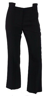 GIVENCHY $825 NWT Black Wool Asymmetrical Waistband Dress Pants 38