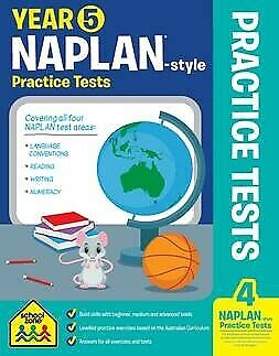 School Zone Years 5 Naplan Style Practice Tests  - Free Postage