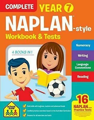 School Zone Years 7 Naplan Style Complete Workbook & Tests - Free Postage