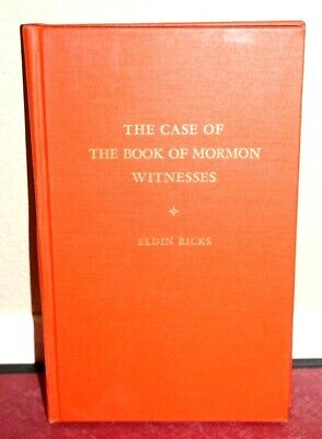 The Case of the Book of Mormon Witnesses by Eldin Ricks 1961 1STED LDS Rare HB
