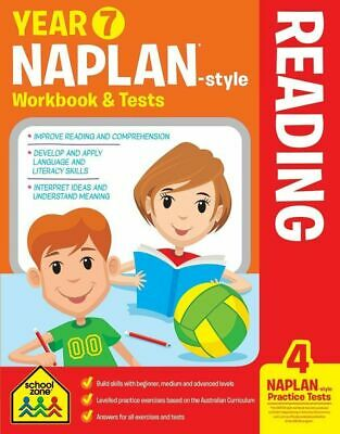 School Zone Years 7 Naplan Style Reading Workbook & Tests - Free Postage