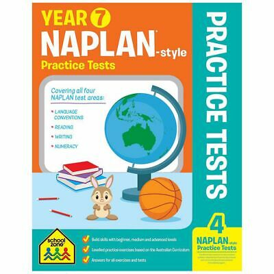 School Zone Years 7 Naplan Style Practice Tests - Free Postage