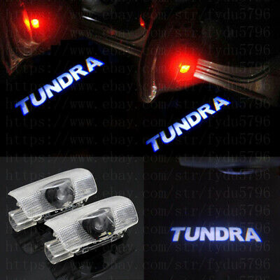 2X Car Door Light Ghost Projector Laser Logo Lamps HD For Toyota Tundra 2008~17