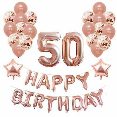 Yoart 50th Birthday Decorations Rose Gold For Women And Girl Party