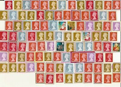 100 GB First small ~1st class ~ postage stamps (£70 face) unfranked on paper