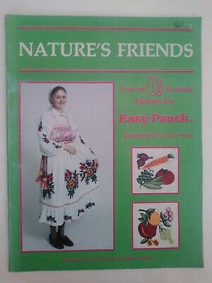 Nature's Friends Iron-On Transfer Patterns for Easy Punch Embroidery Machine