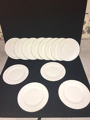 12 Royal Albert White Gold Trim Val D'Or China Bread Plates England (Z47)