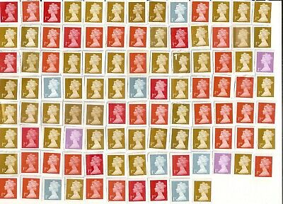 100 GB First small ~1st class postage stamps (£70 face) unfranked on white paper
