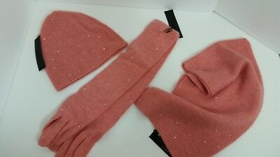 New Knit 100% Pure Cashmere Hat Scarf Or Gloves