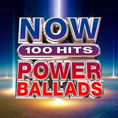 Now 100 Hits Power Ballads CD Box Set New Pre Order 29/03/19