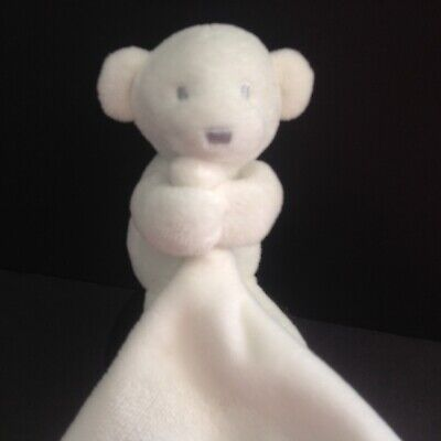 Petit Lem Firsts White Bear Security Blanket Lovey Knots