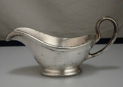 Vintage Seattle Pig & Whistle Silver Plated Creamer Syrup Pitcher - 55283
