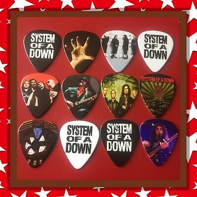 🎸 Lot Of 12 System Of A Down Limited Edition 🎸 Guitar Picks Brand New 🎸