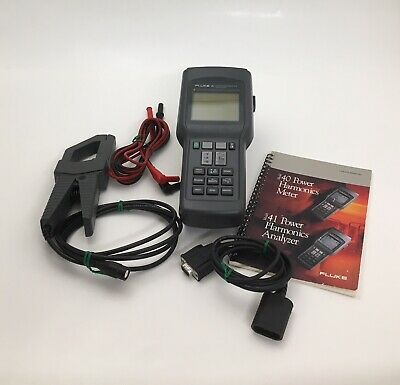 Fluke 41 Digital Power Harmonics Analyzer W/AC Current Probe