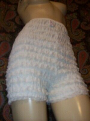 Vintage Malco Modes White Cotton Blend Lacy Ruffled Dance Panty Panties M