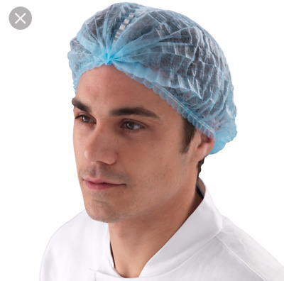 Disposable Mob Caps Hair Nets Food Catering Kitchen Restaurant Work wear Hats