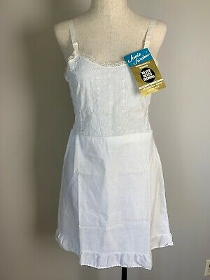 NOS Vintage Girl's Slip White Size 14 Janie Jordan 50s? 60s? No Iron Cotton Poly
