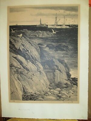 """Stow Wengenroth Signed Lithograph Titled """"Maine Tapestry"""""""