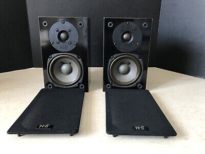 NHT Now Hear This Pair of Vintage Speakers SuperZero A450 Bookshelf Work Great