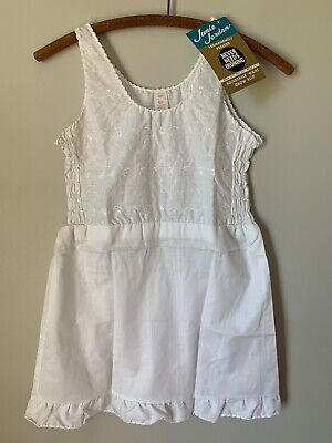 NOS Vintage Girl's Slip White Size 12 Janie Jordan 50s? 60s? No Iron Cotton Poly