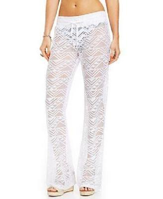 fbd173ae2d MIKEN WHITE CROCHET Wide Leg Swimsuit Cover Up Pants Size - $13.50 ...
