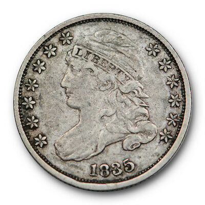 1835 Capped Bust Dime Very Fine to Extra Fine US Coin #95