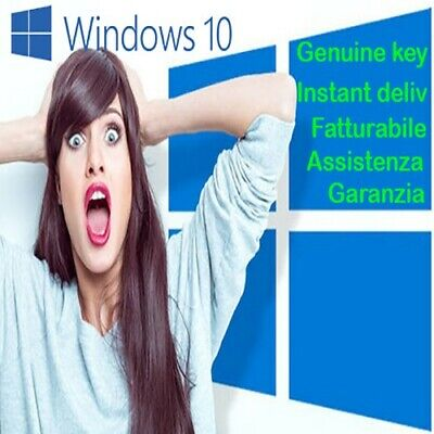 windows 10 pro licenza 32/64 bit instant delivery