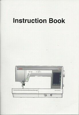 Instruction Book (owners manual)  Janome Memory Craft 9400 QCP New