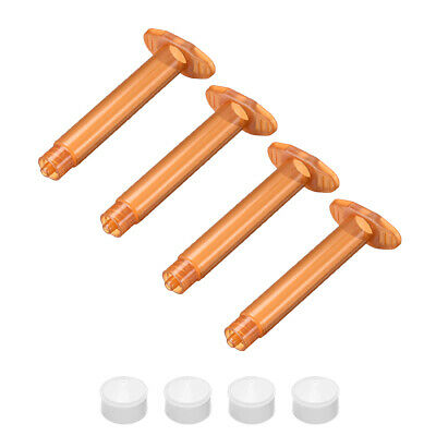 3CC/3ML Brown Adhesive Syringes Tube Sleeve with Piston for Industrial, 4 Pcs