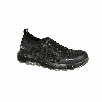 Rocky RKK0248 WorkKnit Mens Black LX Alloy Toe Athletic Work Shoes