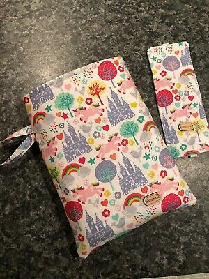 Unicorn & Rainbow Book Sleeve & Bookmark. Kindle Protector Bn