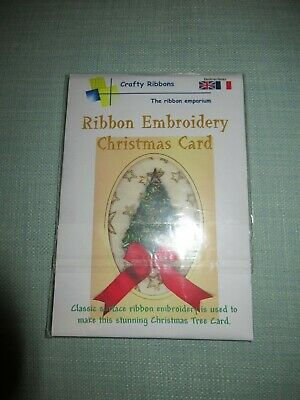 Ribbon Embroidery Christmas Tree Card Kit Pattern From Crafty Ribbons Beads